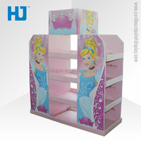 4 Tiers Costomized Colorful Cardboard Floor Display Stands for toy lego for children snow white