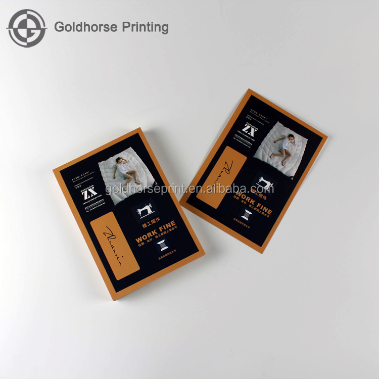 2017 New Design Coated Paper Card For Bedding/Full Color Printing Advertising Card Printing