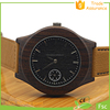 100% Natural bamboo and Eco-friendly skeleton automatic wood watch logo natural wood clock