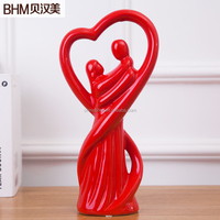 Factory Wholesale Lover Figure Ceramic Clay