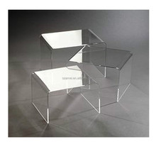 High-transparent Newly Product Clear Acrylic Furniture Wholesale Manufacturing Table