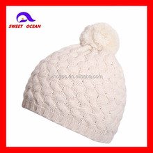 Baby Kids Pom Pom Polar Fleece Knitted Hats