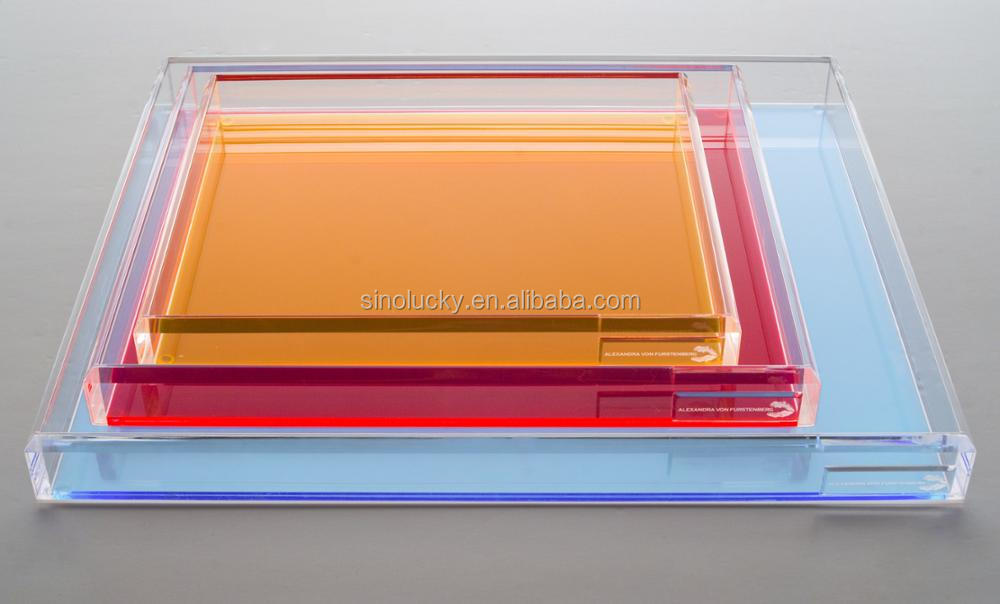 Colorful Acrylic Trays Wholesale Acrylic Serving Tray