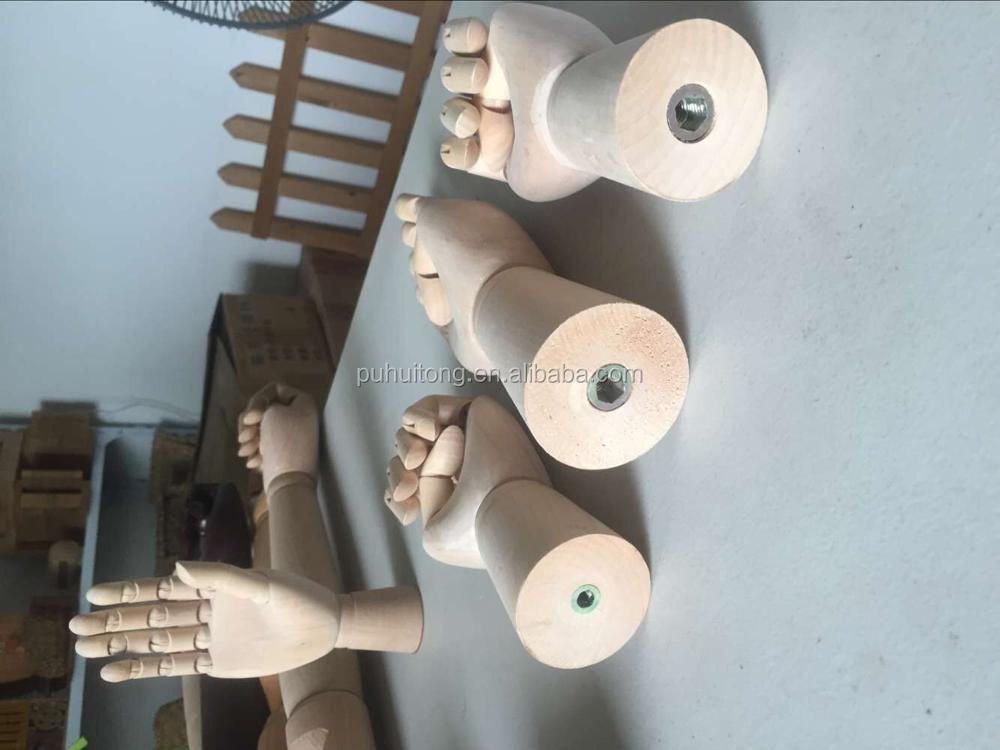 Display Wood hand with screw M10/M6