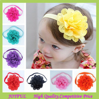 Satin Ribbon Roses Flower Baby Hair Bows