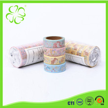 Colorful Decoration Shining Tape with Gold Foil
