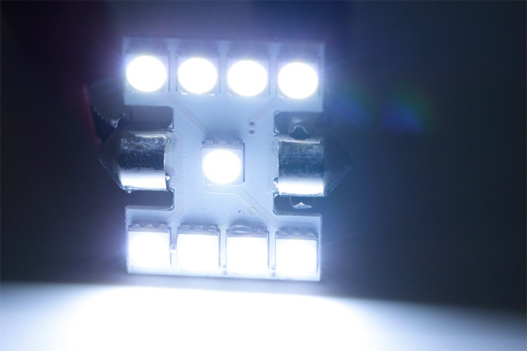 9SMD Festoon LED 31mm Car Light Bulb 12V License Plate Lamp 5050 Interior Reading Lights