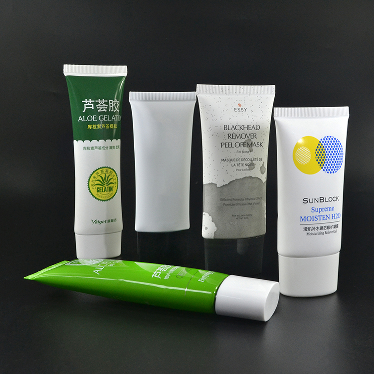 luxury packaging soft cosmetic empty hand cream plastic cream tube in stock