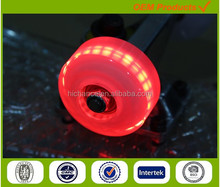 light up skateboard wheels with 3 or 4 red led light