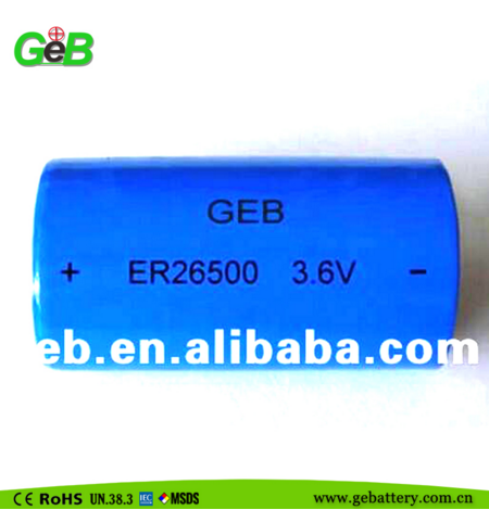 ER26500 3.6V Non rechargeable High energy density <strong>Battery</strong> ER/LiSOCL2 <strong>Battery</strong>