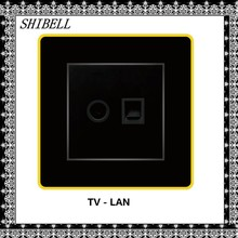 SHIBELL customize hotel room media hub LAN socket outlet and TV socket