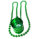 Irish Festival St Patricks Day Item Attached Shot Glass Plastic Beaded Necklace