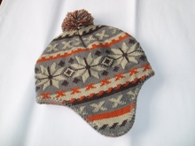Promotional winter knitted cap ear cover hat with cheap price