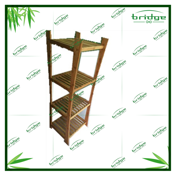 4-tiers decorative woodenbambo storage rack