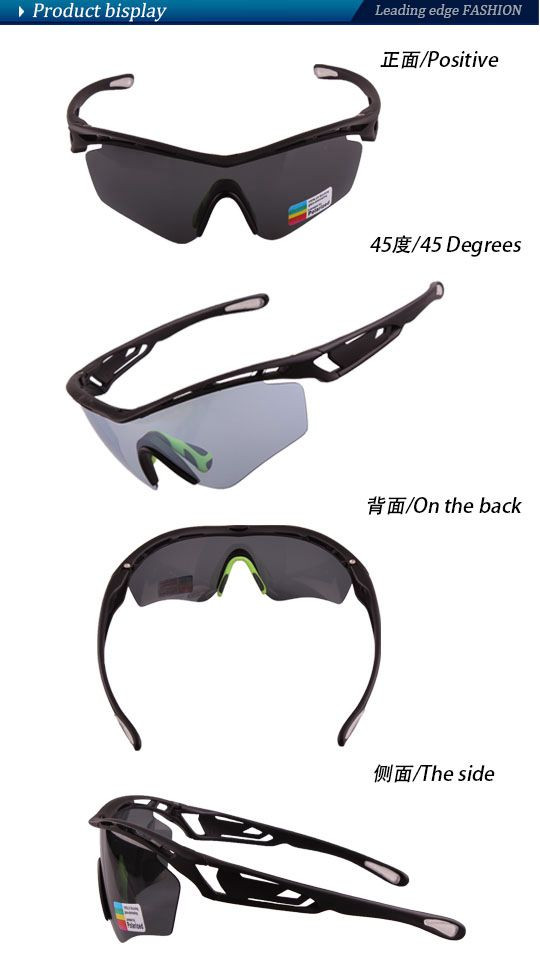 Professional custom LOW MOQ Sports cycling sunglasses 5 interchangeable lenses from factory
