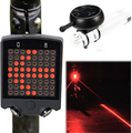 Bicycle Turn signal Light, Wireless Remote Control Bike Tail Light Led Laser Light
