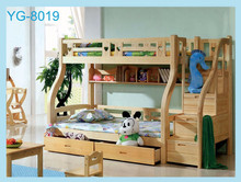 YG 2016 new design Wooden Children Double Bunk Beds/ Kids Bunk Beds with Stairs