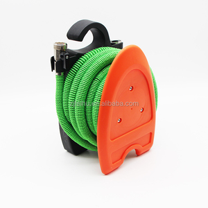 Expandable Garden 50' Hose Reel for Tidy Storage, 2017 New Improved Design, Triple Layer Latex Core, Bundle with Sprayer