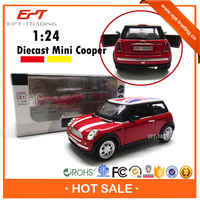 1:24 pull back metal toy mini diecast model car with 2 colors