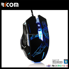 New products 2017 cool design drivers usb 6d wired gaming mouse for gamer--GM06--Shenzhen Ricom