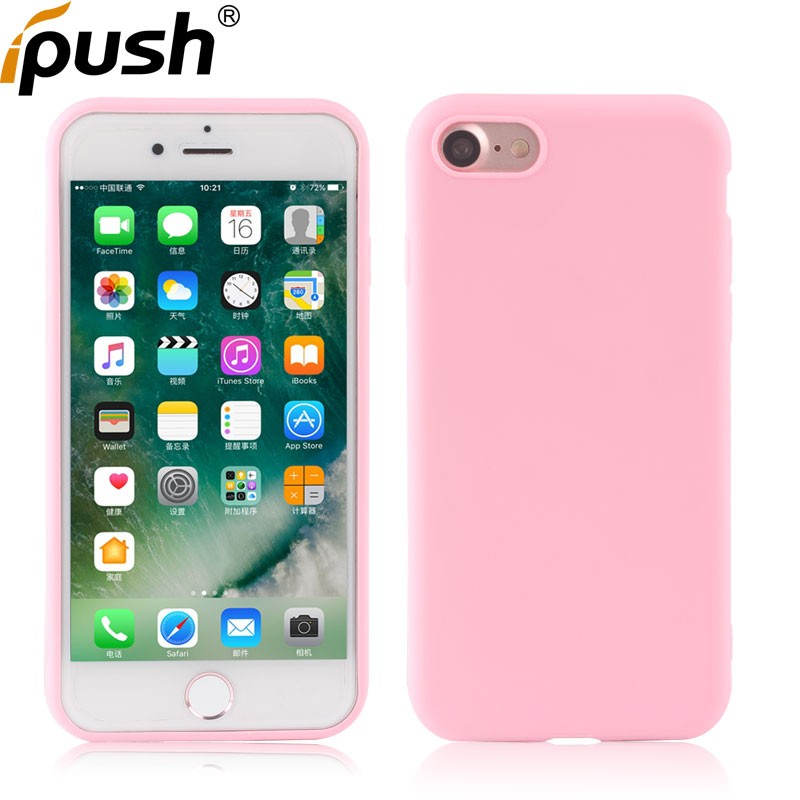 New Arrival Cheap Solid Candy Color 1.0mm Ultra Thin Soft Matte TPU Back Cover Case for iPhone 7 matte case tpu cover