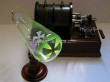 HM-PO057 Crookes Cathode ray Tube Maltese Cross , X-ray, Geissler Physics Particle CRT