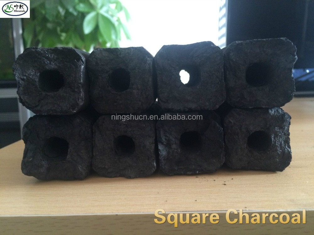 Hexagonal bbq briquette charcoal
