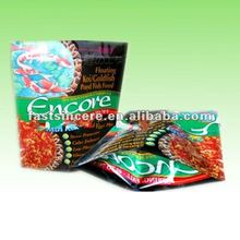 doypack plastic packing bags with zipper top for fish feed