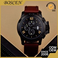 Samples Are Available Customized Logo Printed 5 Atm Water Resistant Automatic Chronograph Watches For Men