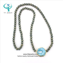 Wholesale Handmade Natural Blue Colored Wood Beads Druzy Us Customs Jewelry