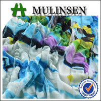 Mulinsen Textile 2015 New Pattern Moss Crinkle Knit Polyester Spandex Omasum Fabric