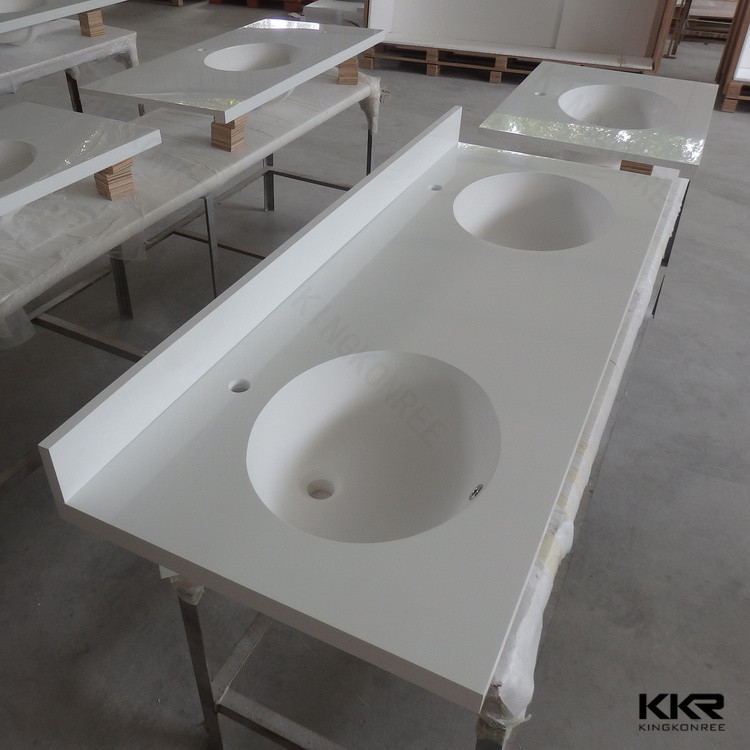 Custom Made Solid Surface Double Sink Bathroom Vanity Top Buy Double Sink Bathroom Vanity Top