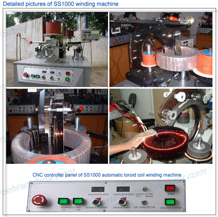 Strong wire and very heavy toroidal core winding machine
