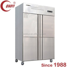 Commercial restaurant 4 door top freezer refrigerator