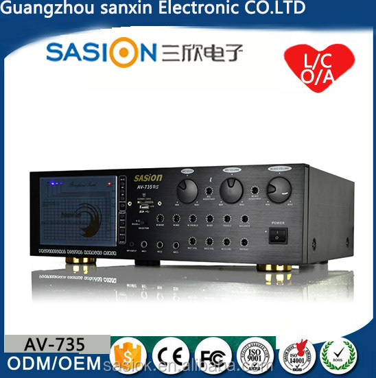 5.1 Channel 64K Echo power amplifier with EQ Equalizer For public address/home