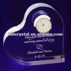 Romantic Love Heart Crystal Clock