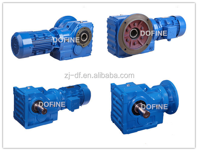 K87 helical bevel gear reducer 90 degree gear units for material handling