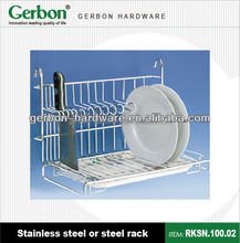 kitchen cabinet steel wire plate rack