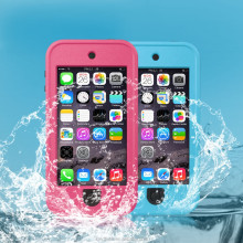 Full Protector Dot View Shockproof Waterproof Case for iPhone5 5S, Cell Phone Waterproof Case