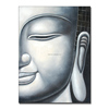 Popular modern half face buddha handmade oil painting