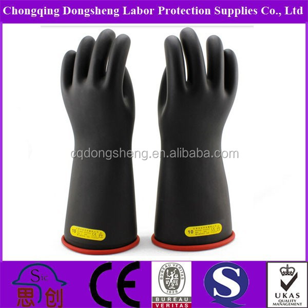 High Voltage Resistance Electrical Rubber Insulating <strong>Gloves</strong>