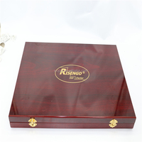 Luxury high glossy wooden box accept custom