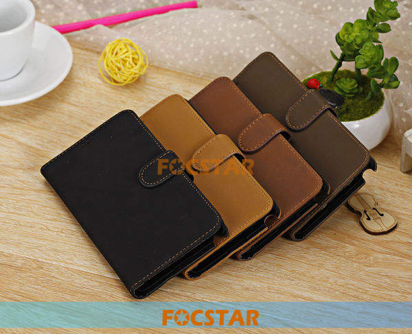 FOCSTAR Retro Wallet Leather Phone Cover Case for Samsung Galaxy Note 3 III N9000 F-SN9000LC010