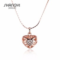 Rose Gold Love Sweet Heart Necklace