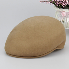 Factory direct supply wool felt caps hats men ivy cap