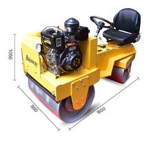 Ride-on and walking behind type two wheel vibrating road roller for sale