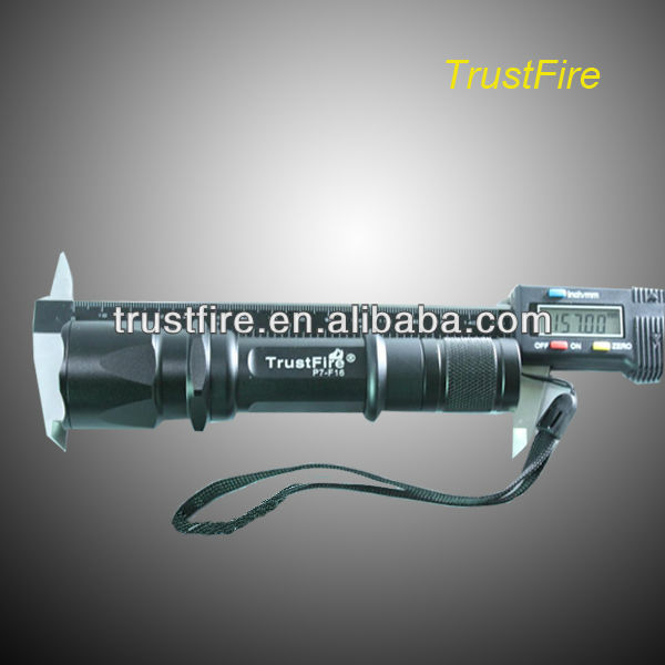 Cool design Trustfire P7 - F16 with one SSC - P7 and 3 modes 900 lumens cree led rechargeable aluminum led maglite