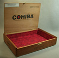 High quality wooden cigar box with velvet liner and lids