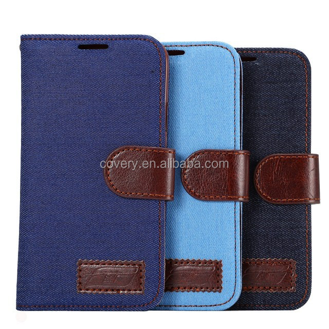 For Samsung A5 Jeans Skin Leather Case