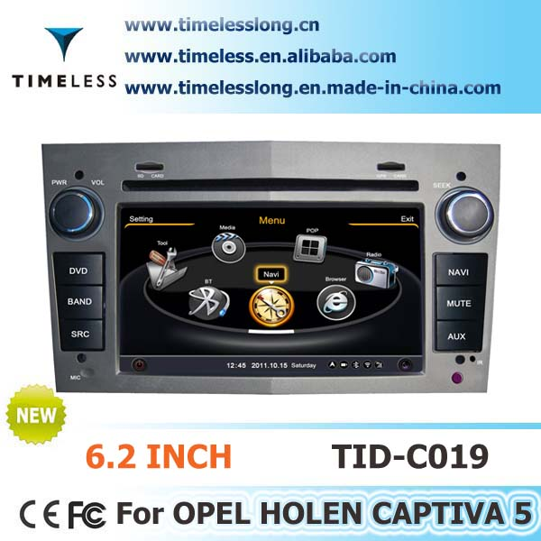 2 Din Car DVD player for OPEL HOLEN CAPTIVA 5 with built-in GPS, A8 chipset, RDS,BT,3G/Wifi, 20 dics momery(TID-C019)